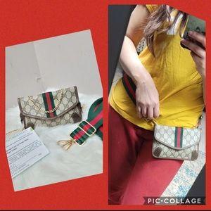 100% Authentic Gucci vintage web sherry line bag